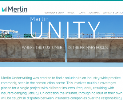 Merlin Underwriting Inc Website