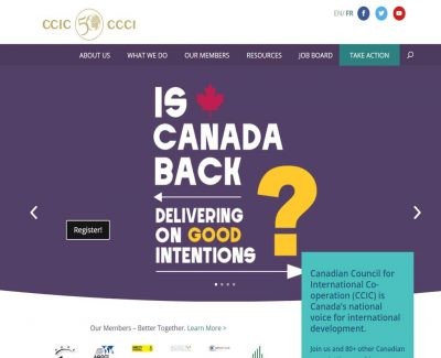 The Canadian Council for Internation Co-operation - CCIC