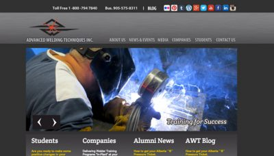 Advanced Welding Techniques Inc - website design - website development