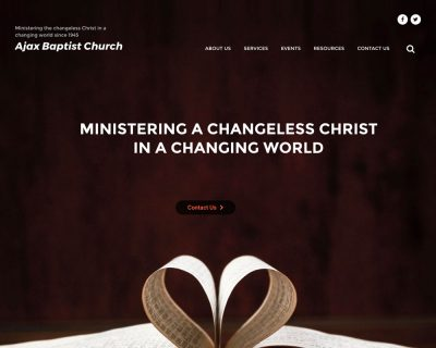 Ajax Baptist Church Website Design & Development