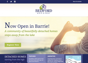 Bedford Estates - website design - website development