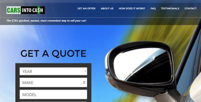 Cars Into Cash - website design - website development