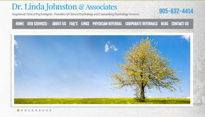 Dr Linda Johnston & Associates - website design - website development