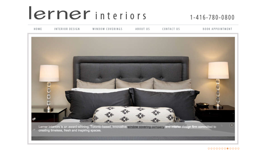Lerner Interiors Website Design Development Seethrough Web