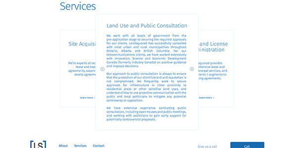 landsquared website