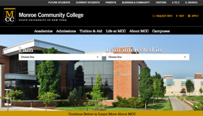 Monroe Community College - website development