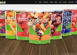 Nudefruit - website design - website development