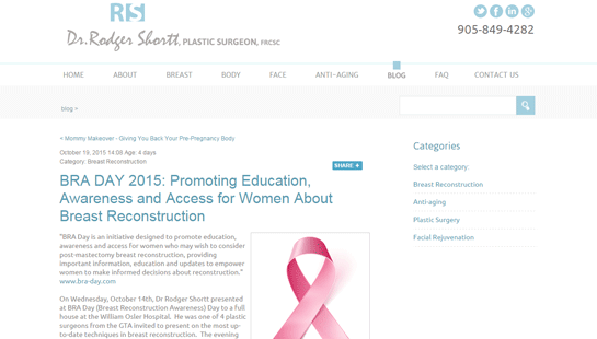 Dr Shortt - website design - website development