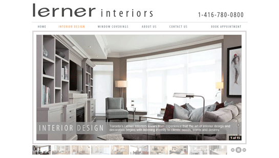 Lerner Interiors - website design - website development