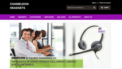 Chameleon Headsets Canada - website development