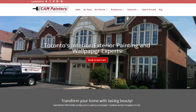 CAM Painters - website design - website development