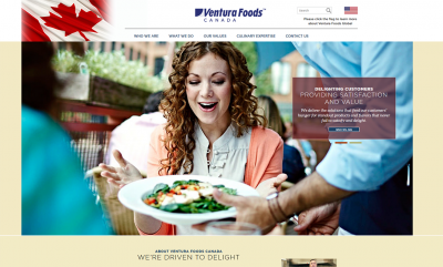 Ventura Foods - website development