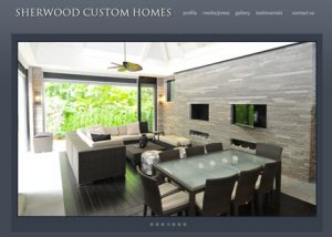 Sherwood Custom Homes - website design - website development