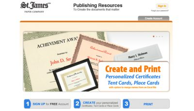 St James Paper Company Publishing System - website design - website development
