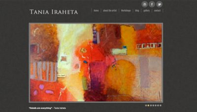 Tania Iraheta - website design - website development