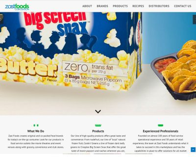Zast Foods - website design - website development